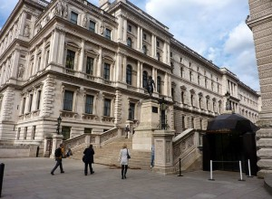 The Foreign Office, London. where Ian Fleming worked during the war and gathered real life experience for the books and movies you've loved -- the James Bond series.