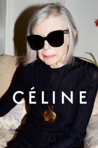 The ability to go against the flow. To chuck out the rulebook to gain attention. No doubt that's behind the choice of novelist Joan Didion as the face of French fashion house, Céline. Joan Didion is 80 but  timeless qualities as a thinker and a writer make her a stunning choice. Photo by Juergen Teller.