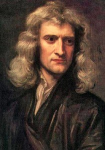 Isaac Newton, 1689, by Godfrey Kneller. It wasn't until 1705 when Newton was knighted by Queen Anne. From then on he was Sir Isaac Newton.