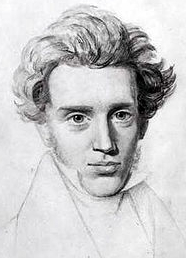 Søren Kierkegaard. The Danish philosopher who said 'To dare is to lose one's footing momentarily. Not to dare is to lose oneself'.